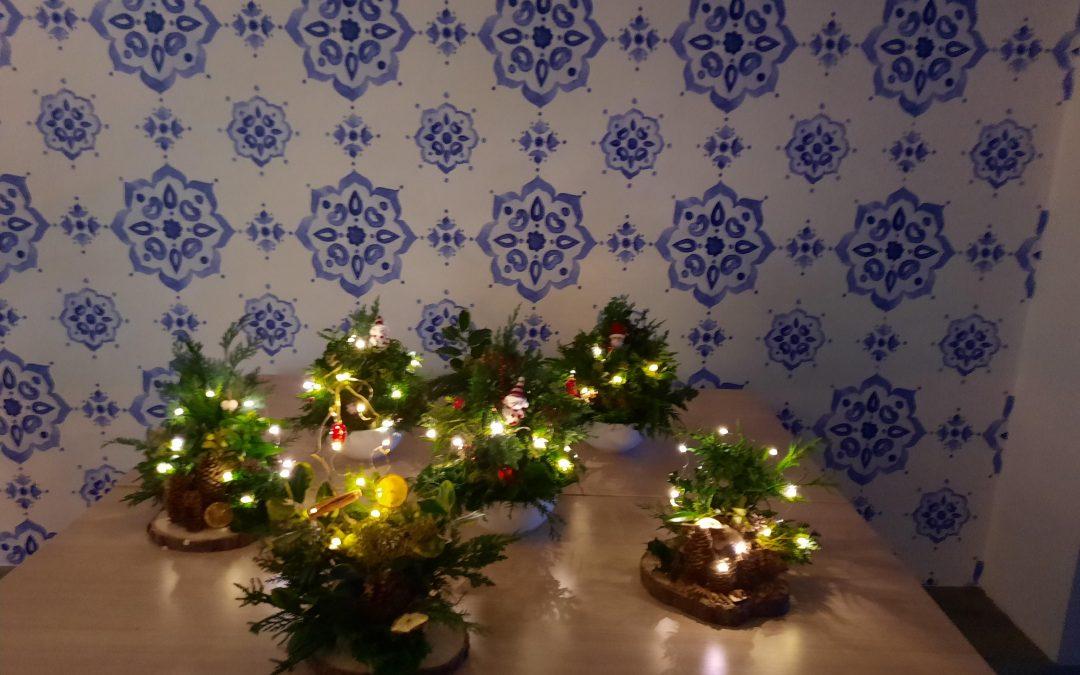 Workshop 14 december 2020 Kerststukjes maken